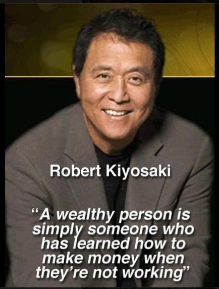 A wealthy person is simply someone who has learned how to make money when they're not working Picture Quote #1