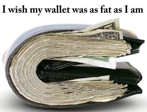 I wish my wallet was as fat as I am Picture Quote #1