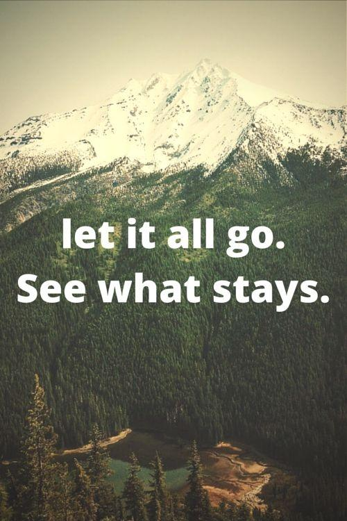 Let it all go See what stays Picture Quote #2