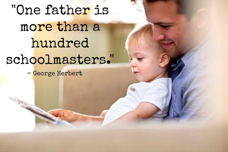 One father is more than a hundred Schoolmasters Picture Quote #2