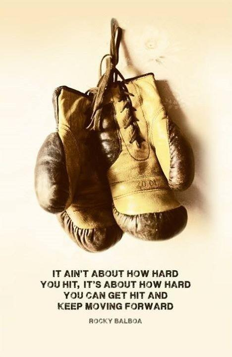 It ain't about how hard you hit, it's about how hard you can get hit and keep moving forward Picture Quote #1