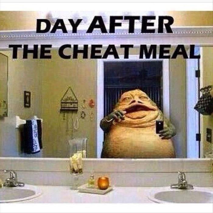 Day after cheat meal Picture Quote #1