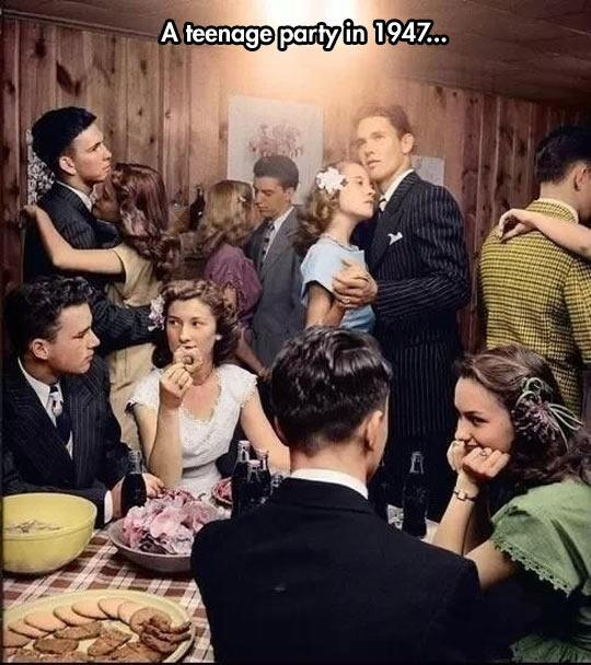 A teenage party in 1947 Picture Quote #1