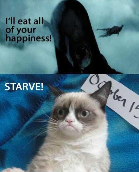 I'll eat all of your happiness. Starve! Picture Quote #1