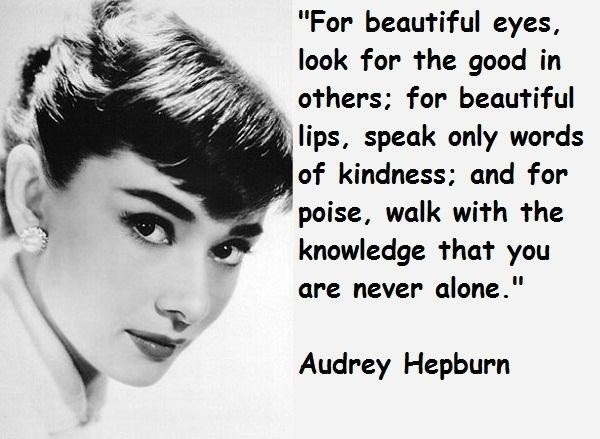 Audrey Hepburn Quote Picture Quote #1