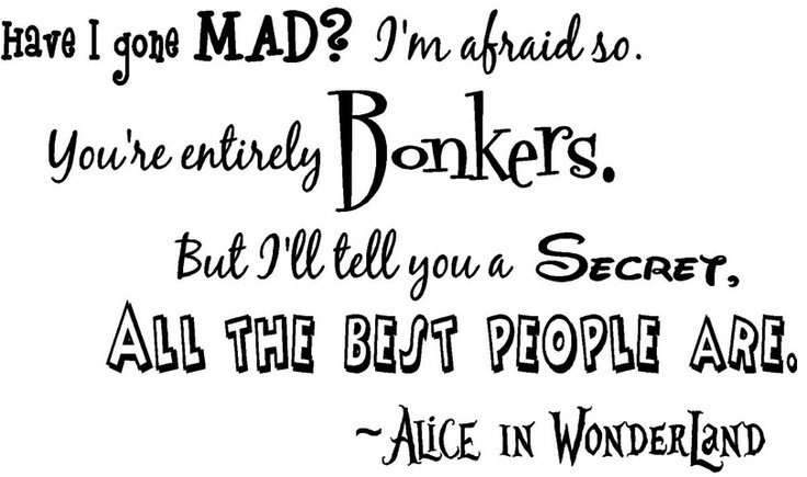 Alice In Wonderland Quote Best Alice In Wonderland Quotes & Sayings  Alice In Wonderland Picture