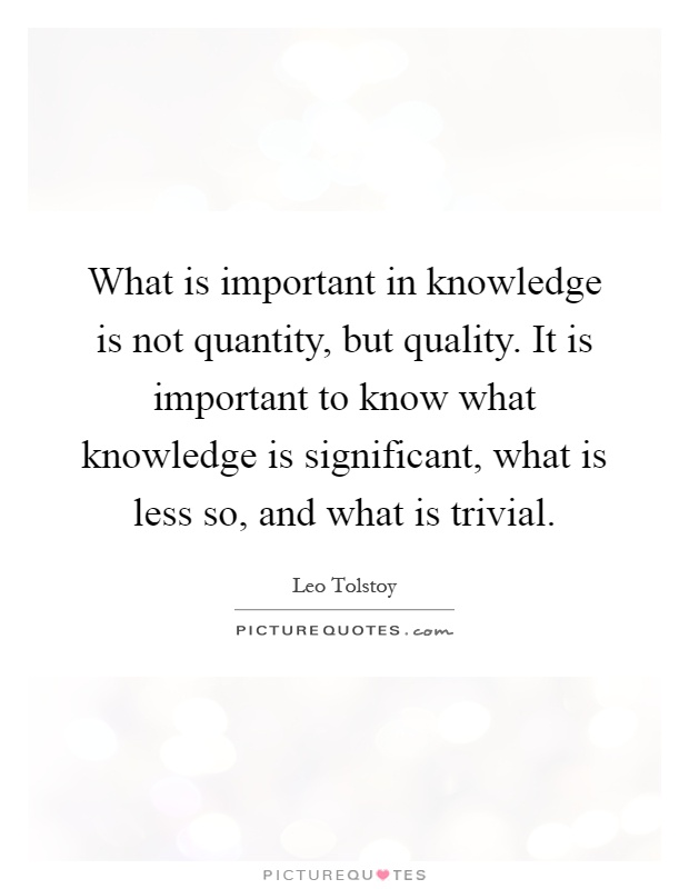 what important qualities and knowledge are