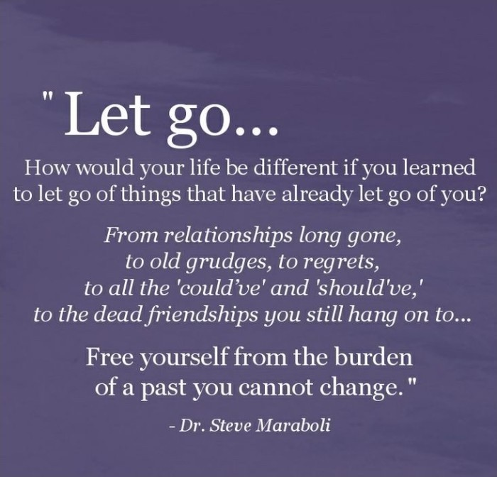 how to let go of a guy and move on