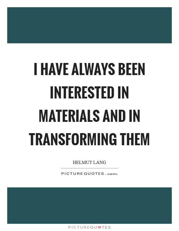 Transforming Quotes