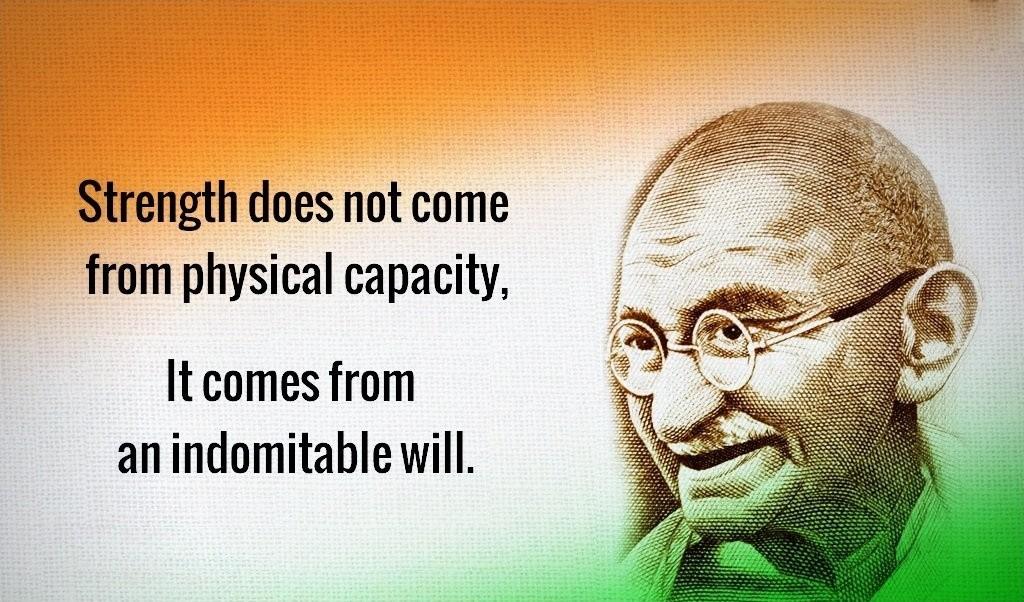 Mahatma Gandhi Quote Picture Quote #1