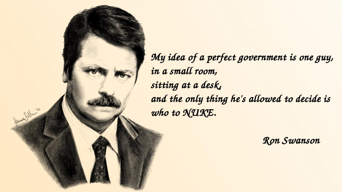 Ron Swanson Quote | Quote Number 544568 | Picture Quotes  Ron Swanson Quotes Salad
