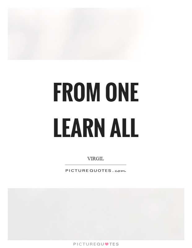 From one learn all Picture Quote #1
