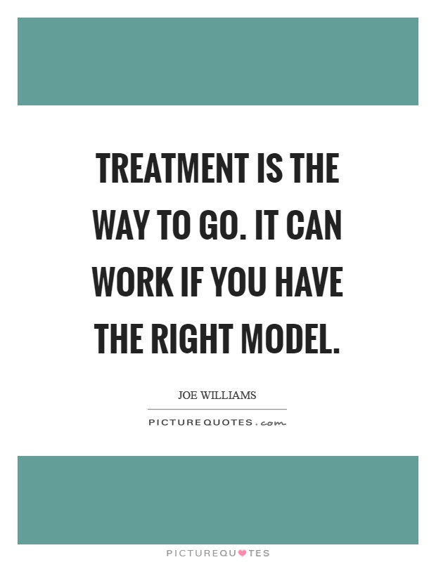 Treatment is the way to go. It can work if you have the right model Picture Quote #1