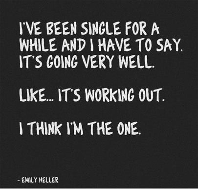 Being Single Quote Picture Quote #1