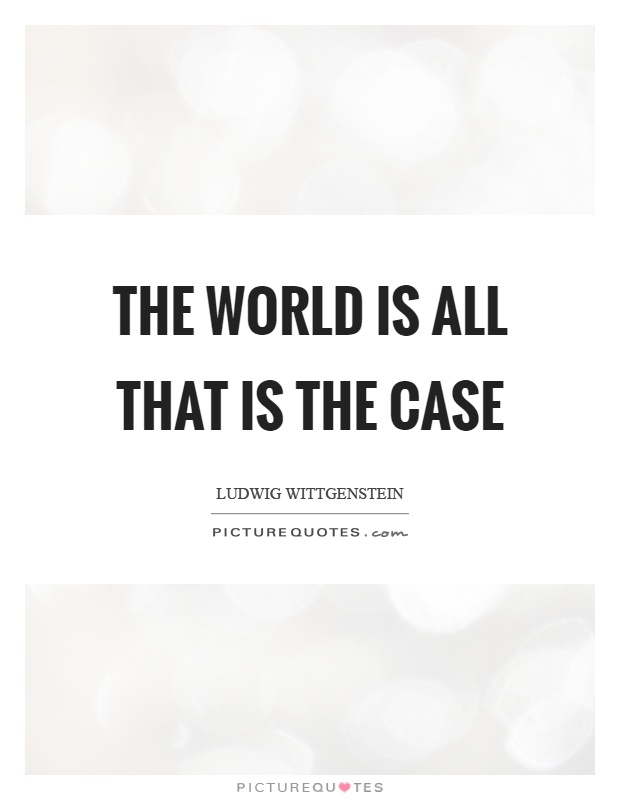The world is all that is the case Picture Quote #1