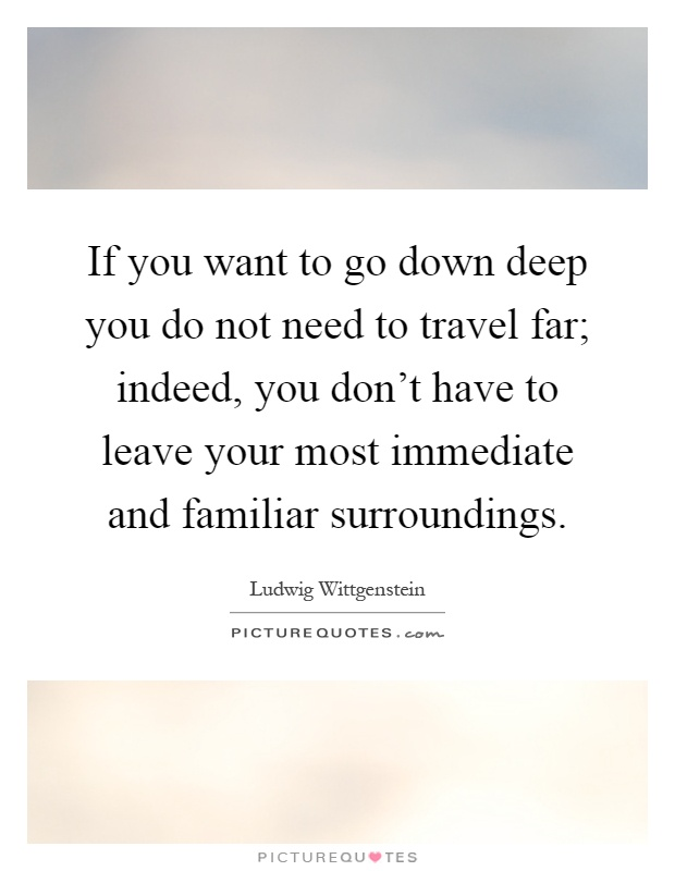 If you want to go down deep you do not need to travel far for Where do i want to go on vacation