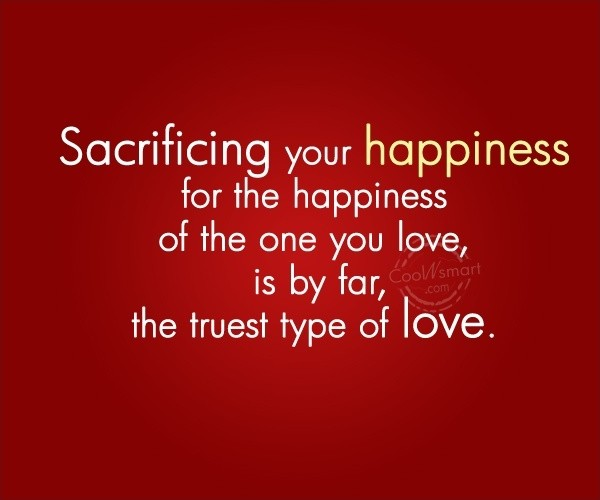 love and sacrifices