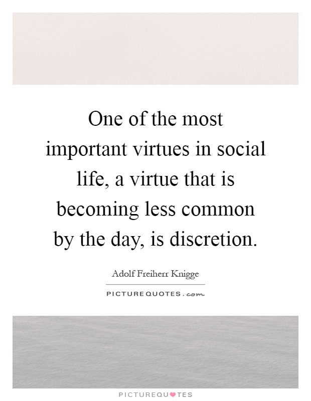 The importance of virtue