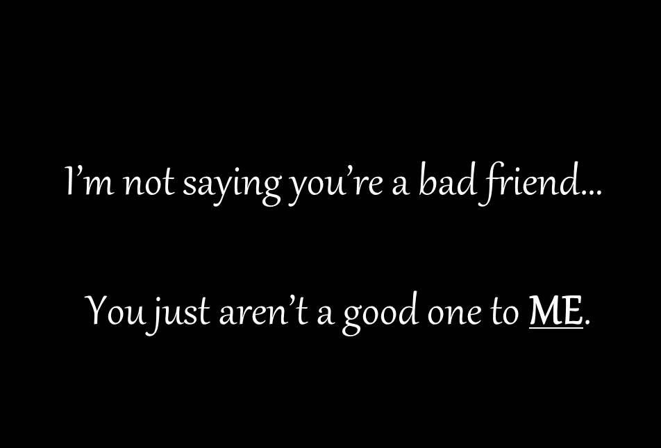 Good Broken Friendship Quote Picture Quote #1