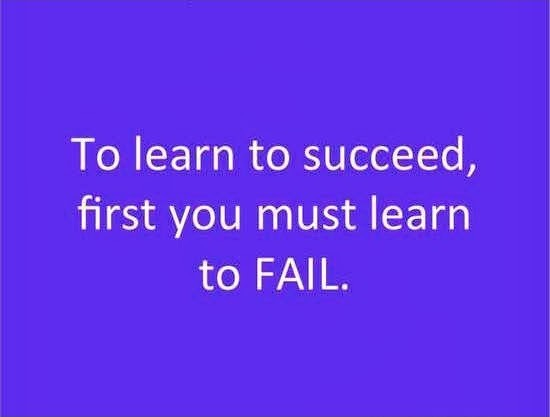 To learn to succeed, first you must learn to fail Picture Quote #1