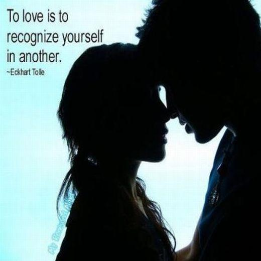To love is to recognize yourself in another Picture Quote #1