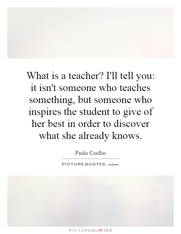 paragraph about someone who inspires you