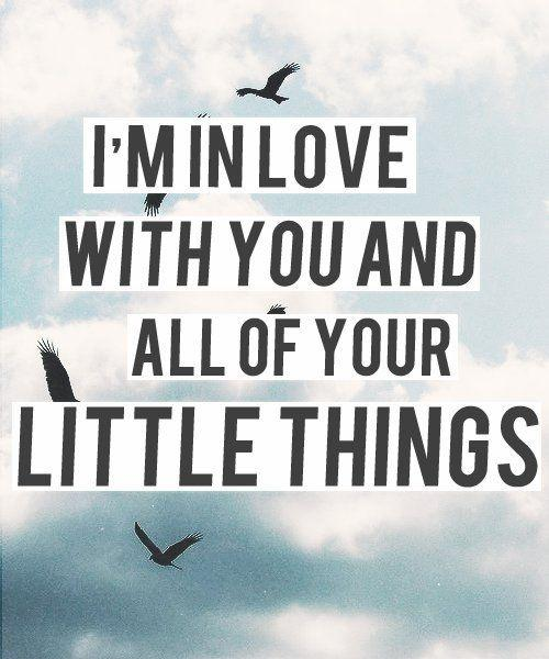I'm in love with you and all of your little things Picture Quote #1