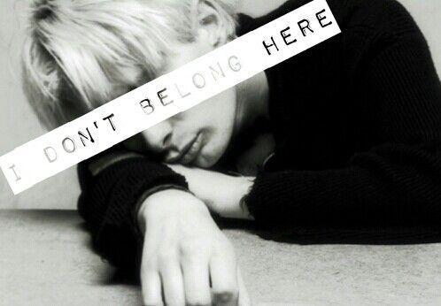 I don't belong here Picture Quote #1