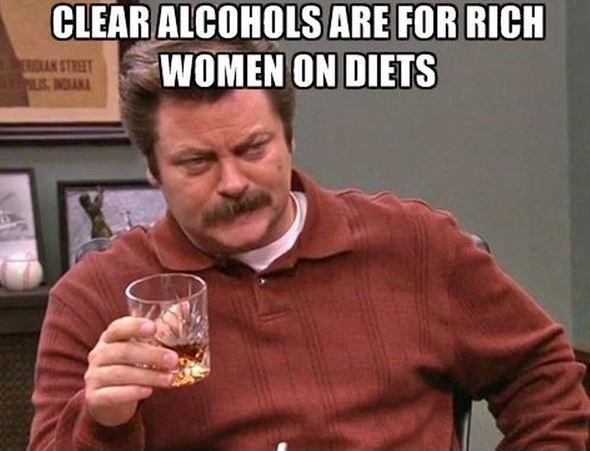 Clear alcohols are for rich women on diets Picture Quote #1