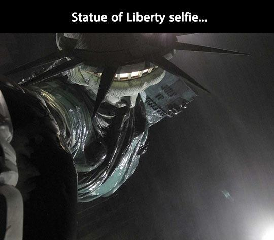 Statue of Liberty selfie Picture Quote #1