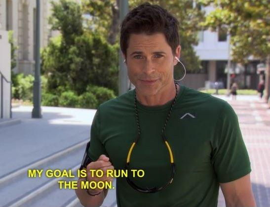 My goal is to run to the moon Picture Quote #1