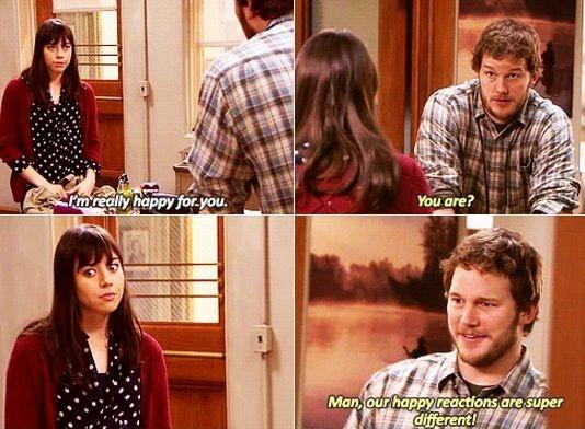 I'm really happy for you. You are? Man, our happy reactions are super different Picture Quote #1