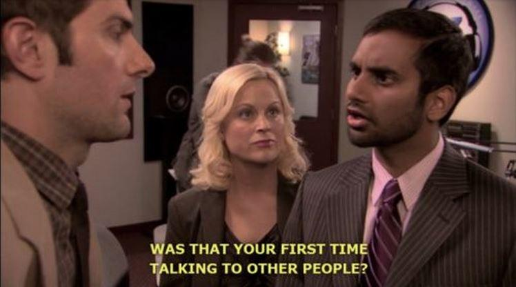 Was that your first time talking to people? Picture Quote #1