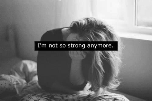 I'm not so strong anymore Picture Quote #1