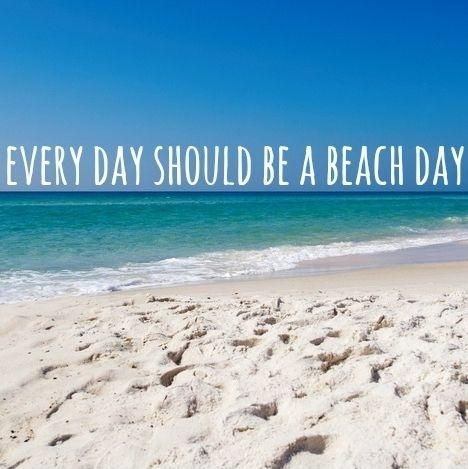 Every day should be beach day Picture Quote #1