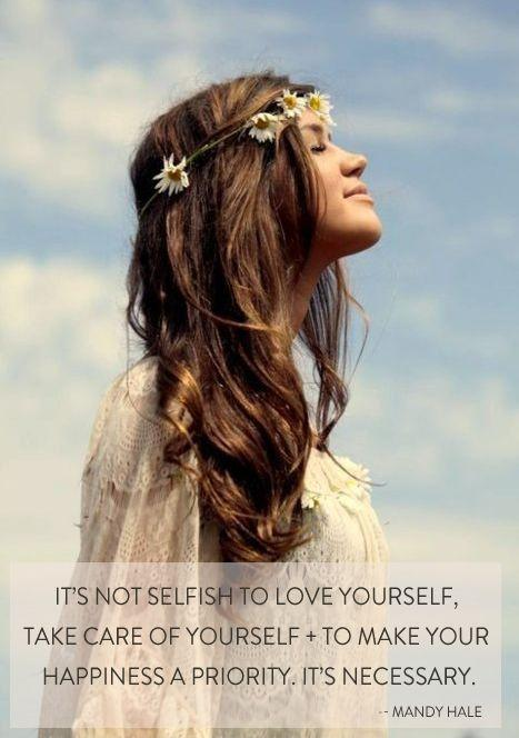 It's not selfish to love yourself, take care of yourself, and to make your happiness a priority. It's necessary Picture Quote #1