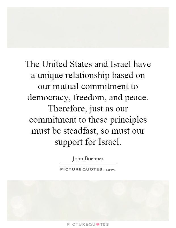 relationship between israel and the united states