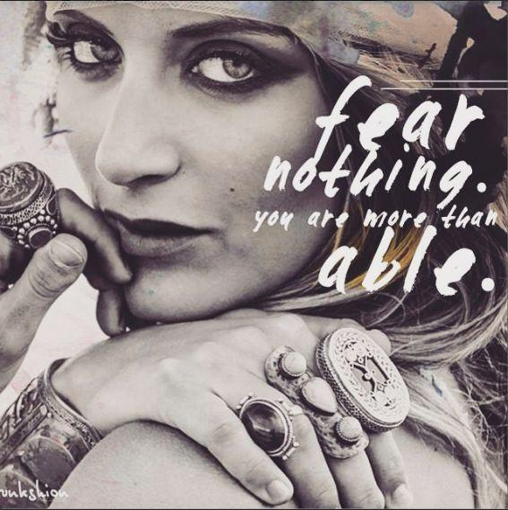 Fear nothing. You are more than able Picture Quote #1