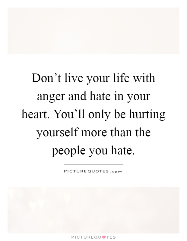 Hate and anger quotes