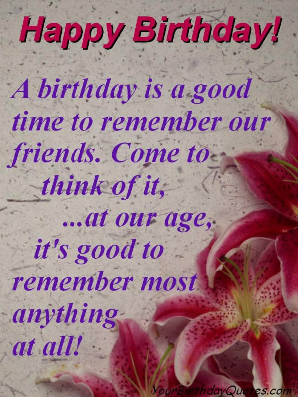 Best Friend Birthday Quote Picture Quote #1