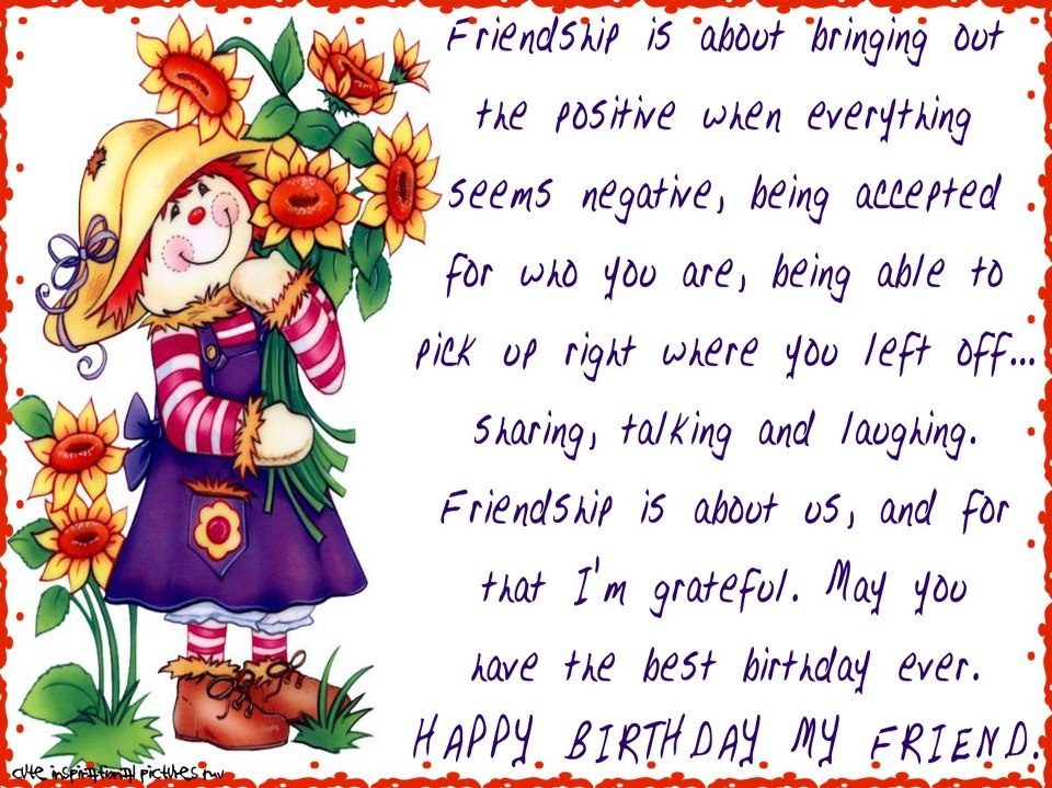 friendship birthday quotes and sayings