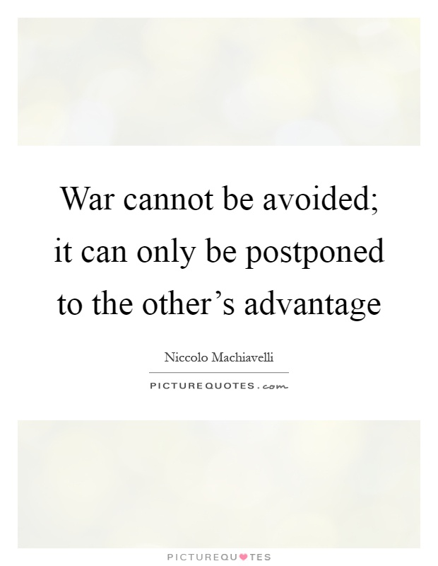 Can war be avoided essay