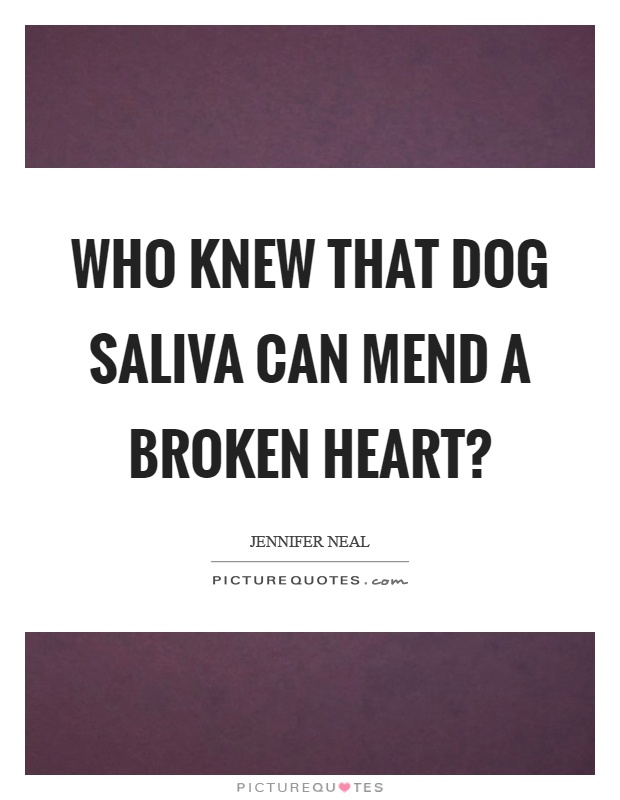 What can i do a project on about dog saliva?