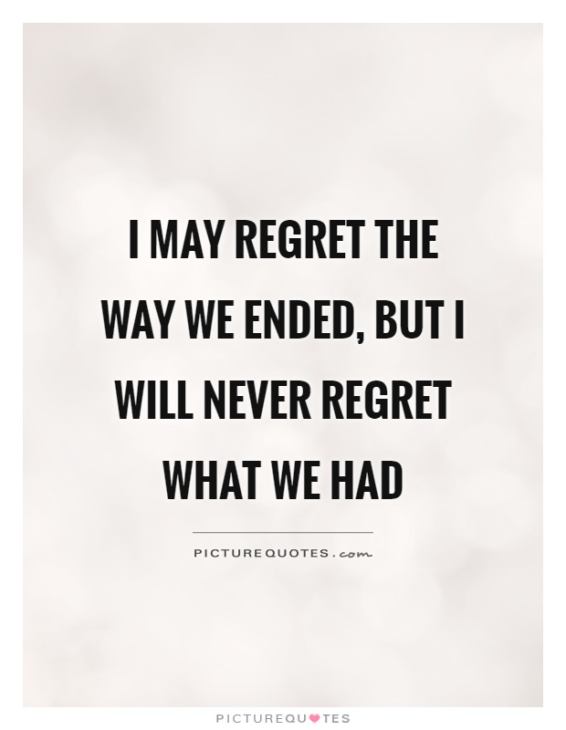 Love Regret Quotes Images: Regret Picture Quotes