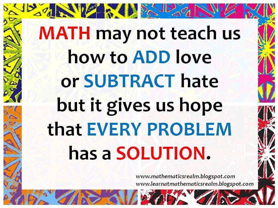 Math Quote Picture Quote #1