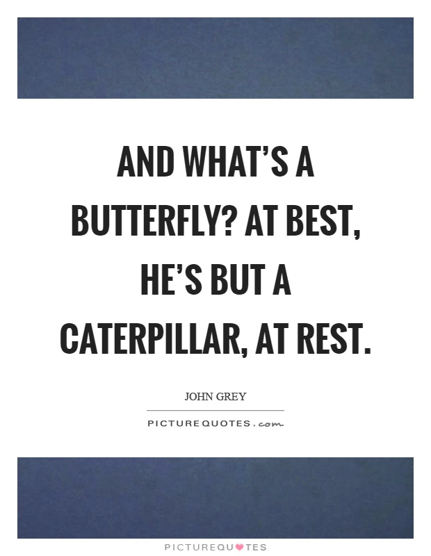 And what's a butterfly? At best, he's but a caterpillar, at rest Picture Quote #1