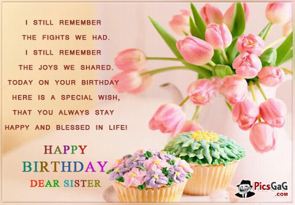 Happy Birthday Sister Quote | Quote Number 551653 | Picture ...