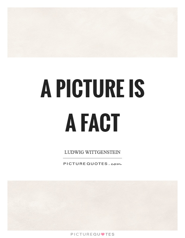 A picture is a fact Picture Quote #1
