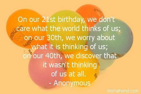 21st Birthday Quote | Quote Number 554848 | Picture Quotes