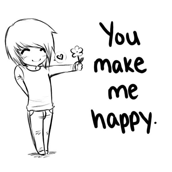 You Make Me Happy Quote Picture Quote #1